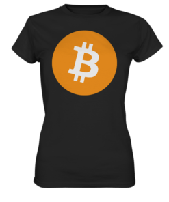 Bitcoin BIG Logo - Lady T-Shirt Black