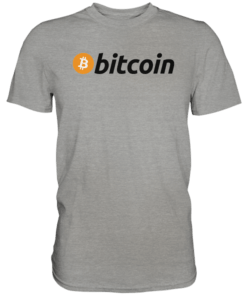 Bitcoin Logo dark T-Shirt Grey