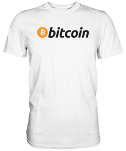 Bitcoin Logo dark T-Shirt White