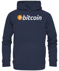 Bitcoin Logo light - Unisex Hoodie Deep Navy