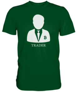 Crypto Trader T-Shirt Bottle Green