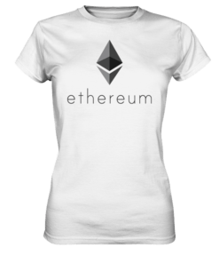 Ethereum Logo - Lady T-Shirt White