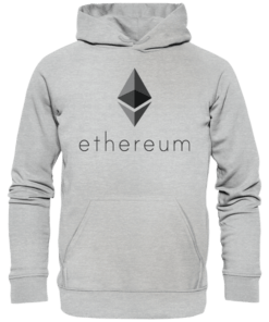 Ethereum Logo - Unisex Hoodie Heather Grey
