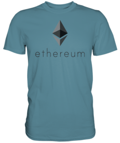 Ethereum T-Shirt Stone Blue