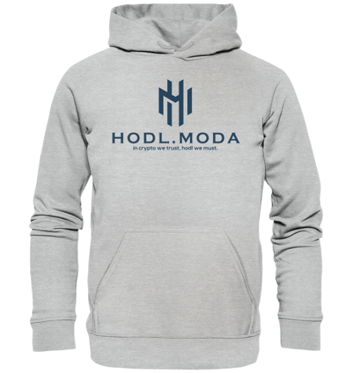 HODL.MODA in crypto we trust dark - Unisex Hoodie Heather Grey