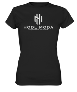 HODL.MODA in crypto we trust light - Lady T-Shirt Black