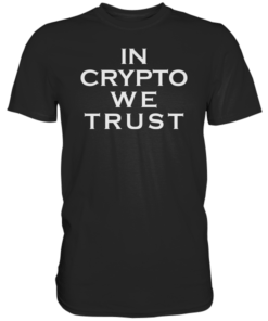 In Crypto We Trust T-Shirt Black