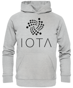 IOTA Logo - Unisex Hoodie Heather Grey