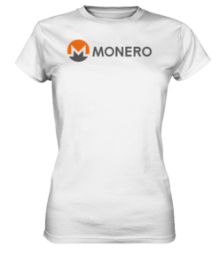 Monero Logo - Lady T-Shirt White